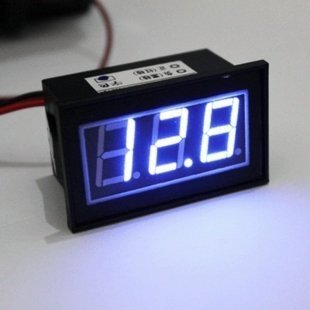 RioRand Waterproof 12 V Blue LED Digital Car/Auto Voltmeter Motorcycle Battery Monitor
