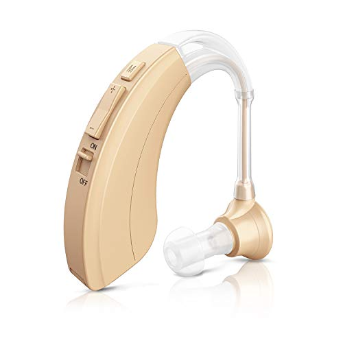 Blomed Hearing Amplifier - Digital Personal Sound Enhancement Device for Adults and Seniors, 4 Channels Noise Reduction, 2 Batteries and Hearing Aid Cleaning Brush Included