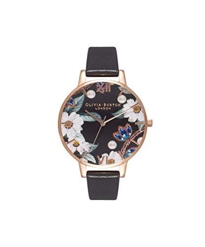 Olivia Burton Damen Analog Quarz Uhr mit Leder Armband OB16BF04