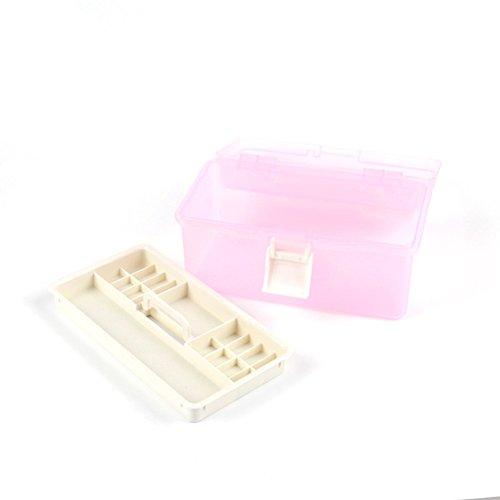 Chaud Fille Multi utilitaire boîte Étui de rangement professionnel Nail Art Manucure Kit Nail outil Boîte de maquillage Petite taille