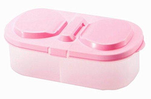 set de 3 céréales/collations bacs de stockage boîtes alimentaires, rose