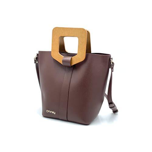 ORKNEY Elegante Handtasche für Damen. Modische Umhängetasche für Damen,PU-Leder. Exklusives und originelles Design.Schöne braune Farbe.