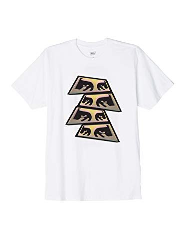 OBEY - T-Shirt Manica Corta Stampa Frontale - Pyramid Eyes - White - (XL)