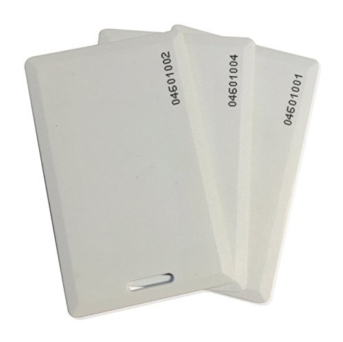 10 pcs 26 Bit Proximity Clamshell Weigand Prox Swipe Cards Compatable with ISOProx 1386 1326 H10301 Format Readers and Systems. Works with The vast Majority of Keyless Entry Access Control Systems