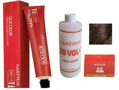 Matrix Socolor Hair Color With 135Ml Developer 20 Vol 6% (4N Medium Brown)