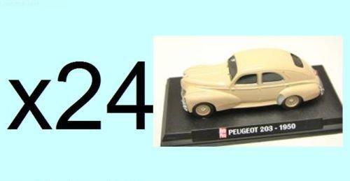 Générique Lot de 24 Voitures Peugeot 203 BERLINE 1950 1/43 - Collection Auto Plus - Voiture Collection