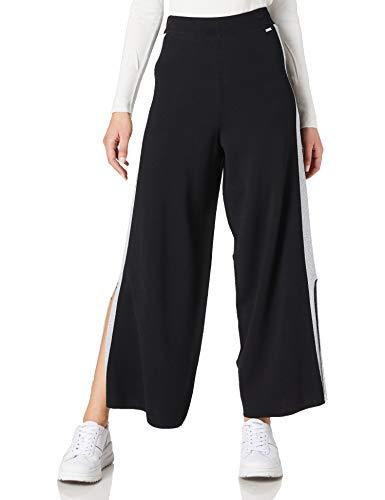 Armani Exchange Wide Fit Sweatpants Pantalón Deporte, Negro, XL para Mujer