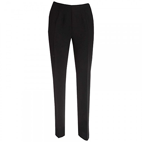 Michaela Louisa Evening Trousers with Satin Band 16 Black