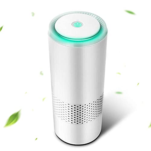 Air Purifiers for Home - Car Air Purifier with 7 Colors True HEPA Filter, Remove Pollen Pet Hair Dander Smoke Dust Odors Airborne Contaminants 10 dB Quiet (Unavailable for California)