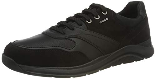 Geox Herren U Damiano C Sneaker, Black, 45 EU