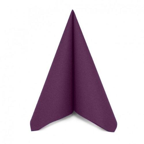 Alfred Mank Paper Serviettes non-tissées Airlaid haute qualité Toucher lin Prune/violet 40 x 40 cm