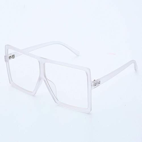 ShSnnwrl Único Gafas de Sol Sunglasses Gafas De Sol Cuadradas De Gran Tamaño Vintage para Mujer, Tonos Degradados, Parte Superior