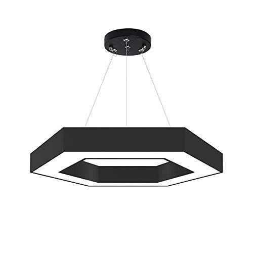 Araña, Araña Moderna En Forma De Cinturón Simple, Personalidad Moderna Creativa, Sala De Estar/Dormitorio/Pasillo Individual, Negro, Iluminación (Color : L-100cm)