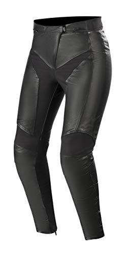 Alpinestars Women's Vika v2 Leather Street Motorcycle Pant, Black, 38
