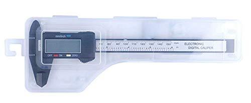 Calibro Digitale Professionale Micrometro, Calibro a Corsoio 0-150mm con Inch/Millimete Electronic Calibri a Corsoio per Misurzione Esterna, Interna, Profondità e di Passo (Nero)