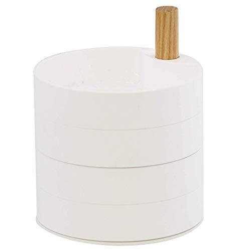 TOSCA - Joyero de 4 niveles, color blanco