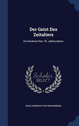 DER GEIST DES ZEITALTERS
