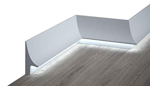 Mardom Decor - QL007 Licht Fußbodenleiste I Sockelleiste für indirekte LED Beleuchtung I 200 x 9,5 x 4,2 cm