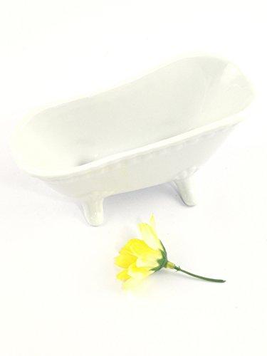 Jabonera de cerámica con original diseño con forma de bañera