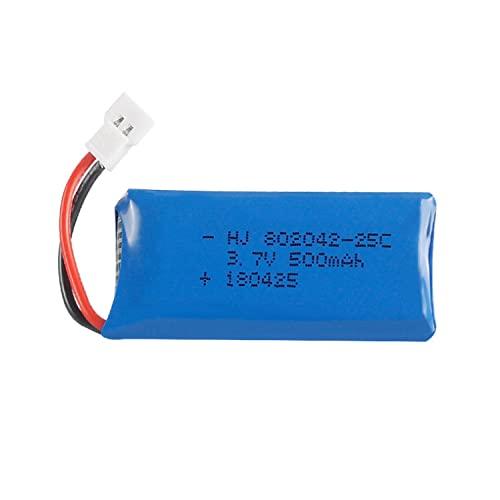 YUNIQUE ITALIA 1 Pezzi Batterie Lipo Ricaricabili 3.7v, 500mAh per Rc Droni Quadricotteri HUBSAN X4 H107L H107C H107D H107 V252 JXD 385