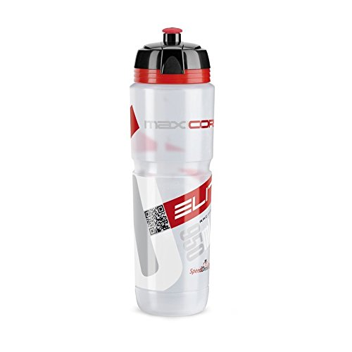 Elite Trinkflasche Maxi Corsa, Transparent-Rot, 950 ml, FA003514221