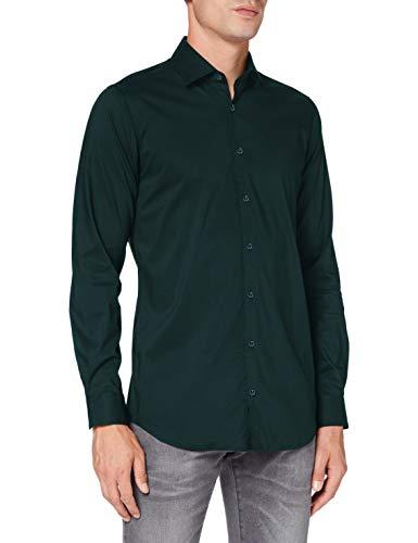 Pierre Cardin Langarm Hemd Camicia, Verde, 38 Uomo