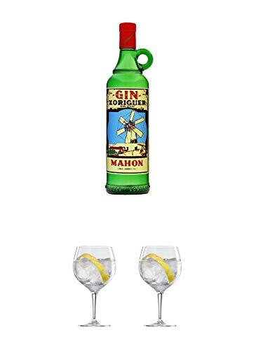 Gin Xoriguer Mahon Gin 0,7 Liter + Ballon Bistro Cubata GIN Glas 1 Stück + Ballon Bistro Cubata GIN Glas 1 Stück