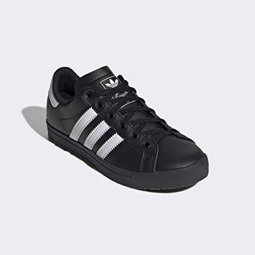 adidas Originals Unisex-Kid's Coast Star Sneaker, Black/White/Black, 6