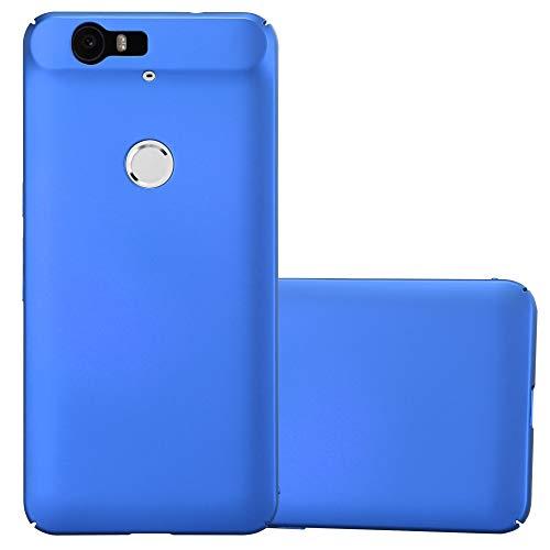 Cadorabo Hülle für Huawei Nexus 6P in Metall BLAU – Hardcase Handyhülle aus Plastik gegen Kratzer & Stöße – Schutzhülle Bumper Ultra Slim Back Hülle Hard Cover