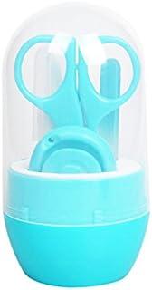 TOOGOO 4pzs Juego de cuidado de unas de bebe precioso Tijeras para ninos Recortadora Cortaunas para bebe practico Cizalla de cascara de unas de bebe diario conveniente Kit de manicura