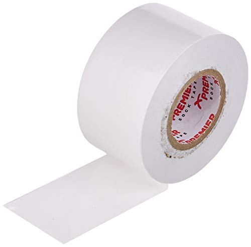 Premier Shinguard Tape White Cinta para espinillas, 38 mm, Color Blanco, Unisex Adulto, Talla única