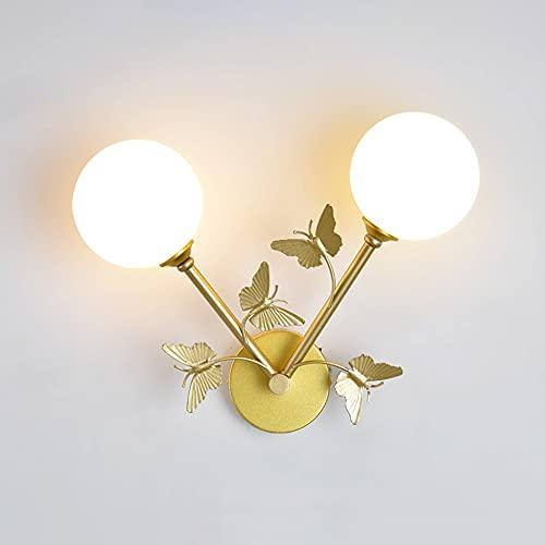 FomTai E14 Luz De Lujo De Lujo Dormitorio De La Noche Lámpara De Noche Lámpara De Pared Interior Hierro Hierba Pared Lámparas Lámparas Casa Negocio Luces De Pared para Escaleras Sala De Estar
