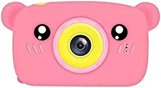 DishyKooker Lovely Auto Focus Digital Camera Cartoon High Definition Mini Sports Camera Toy Kids Pink Without Memory Card