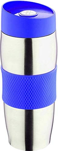 Praknu Thermobecher Isolierbecher Edelstahl 400ml Blau | Auslaufsicher Spülmaschinenfest | Kaffeebecher / Kaffee To Go Becher Thermo