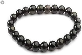 Bracelet Obsidienne Noire pierre de protection Perle de 8 mm