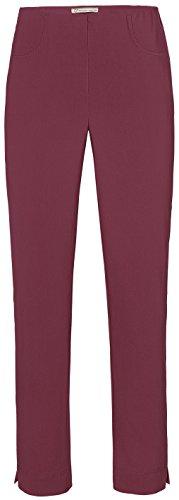 Stehmann LOLI-742 Bequeme, stretchige Damenhose, mit schmalem Be Größe 44, Farbe Burgund