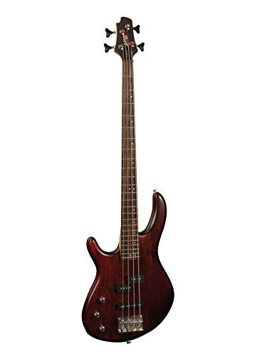 Cort Action 4 Guitare basse électrique Gaucher Noyer Satine