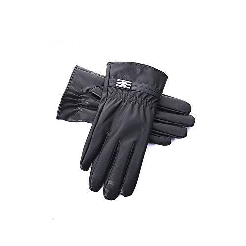 LHTCZZB Pertenece a guantes de cuero de los hombres clásicos de invierno más cachemira El calor puede pantalla táctil engrosamiento aire libre que monta a prueba de viento, antideslizante, la motocicl
