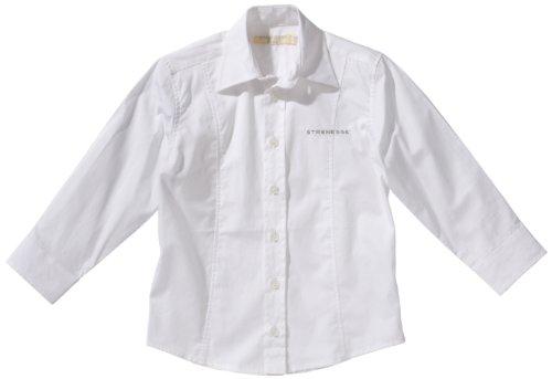 Strenesse Kids Jungen Hemd 64113, Gr. 128, Weiß (001 Bright White)