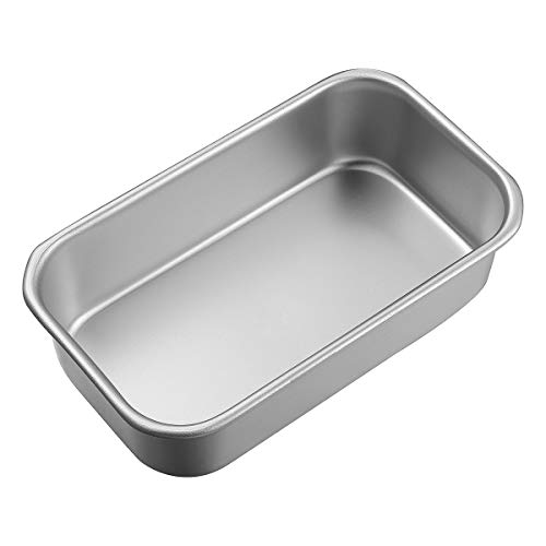 UPKOCH Aluminum Alloy Loaf Tin Rectangular Non-stick Bread Mould Bread Loaf Pans Toast Brownie Mold Baking Tools Kitchen Dining Bar Supplies, 4.41x2.44x1.26in