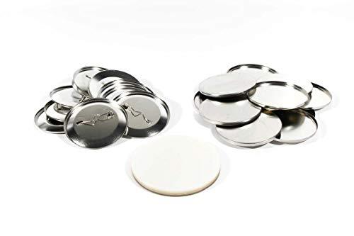 Buttonrohlinge 59mm inkl. Sicherheitsnadel (500 Stück) kompatibel mit Badgematic Buttonmaschine