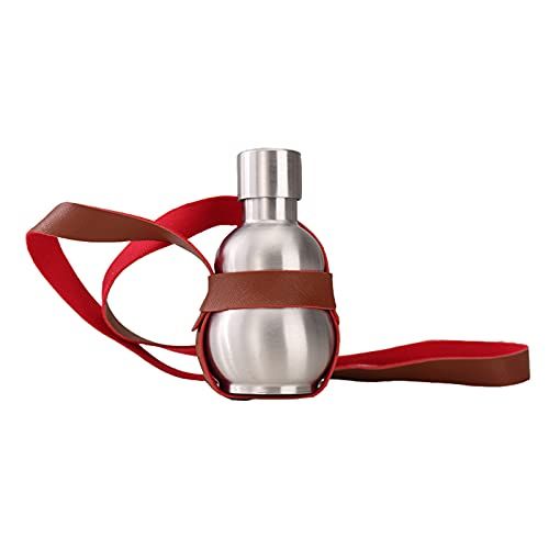 BNMY Botella De Frasco De Vino De Calabaza De Acero Inoxidable, Hervidor De Agua con Correa Marrón Al Aire Libre, Botella De Whisky, Botella De Gran Regalo, Matraz De Idea,A