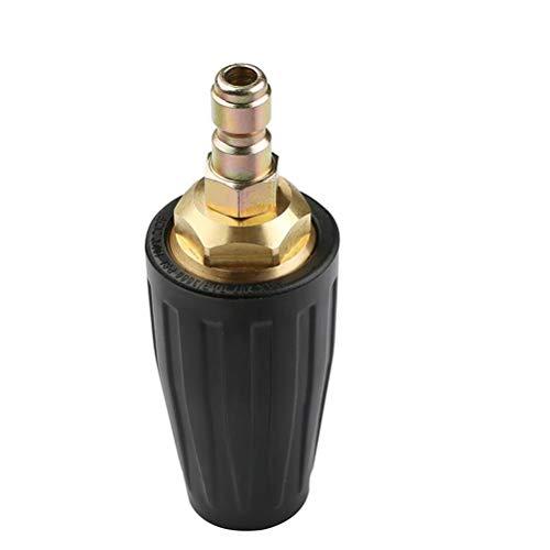 Boquilla turbo giratoria Lavadora de alta presión de 1/4Boquilla turbo giratoria Punta de pulverización 3000PSI Conexión rápida boquilla limpiadora Lavadora a presión de chorro Accesorio de boquilla
