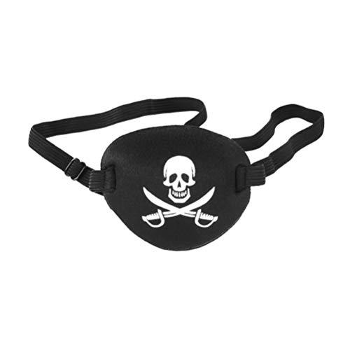 Parches de Ojo de Pirata Un Ojo Cráneo Capitán Cubierta de Ojo Accesorio de Disfraz para Adultos Niños Fiesta Temática de Halloween Favores de Navidad