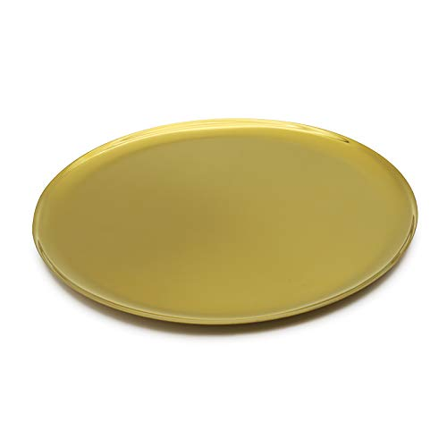 MBR FORCE Gold Stainless Steel Tray Cosmetics Jewelry Organizer Decorative Storage Trays Round