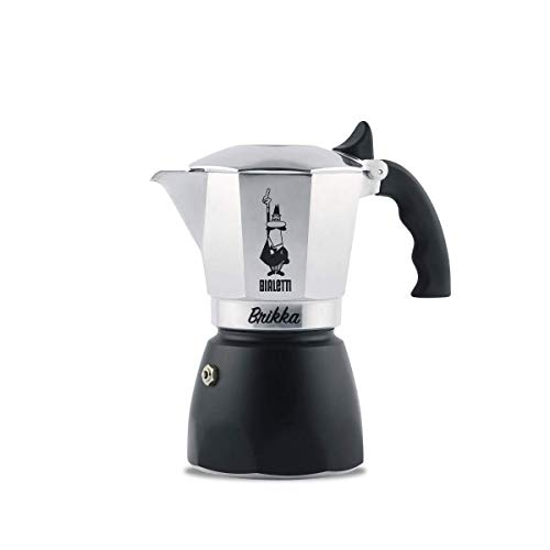 Bialetti : Brikka Stovetop Espresso Maker 4 Cup - Black Bottom