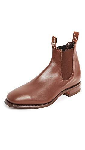 R.M. Williams Men's Comfort RM Leather Chelsea Boots, Dark Tan, 10.5 Medium US