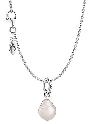 Pandora Silber Damen-Halskette Weiße Perle 51161