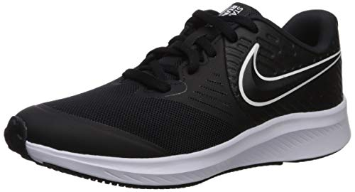 NIKE Star Runner 2 (GS), Zapatillas Unisex Adulto, Negro (Black/White/Black/Volt 001), 37.5 EU