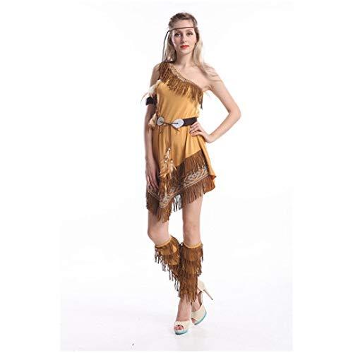 YyiHan Cosplay Disfraz, Viento Singular Flecos Indio del Funcionamiento de Princesa Cazador Ropa Cosplay de Maquillaje de Halloween Traje del Partido Ropa Puesta en Escena